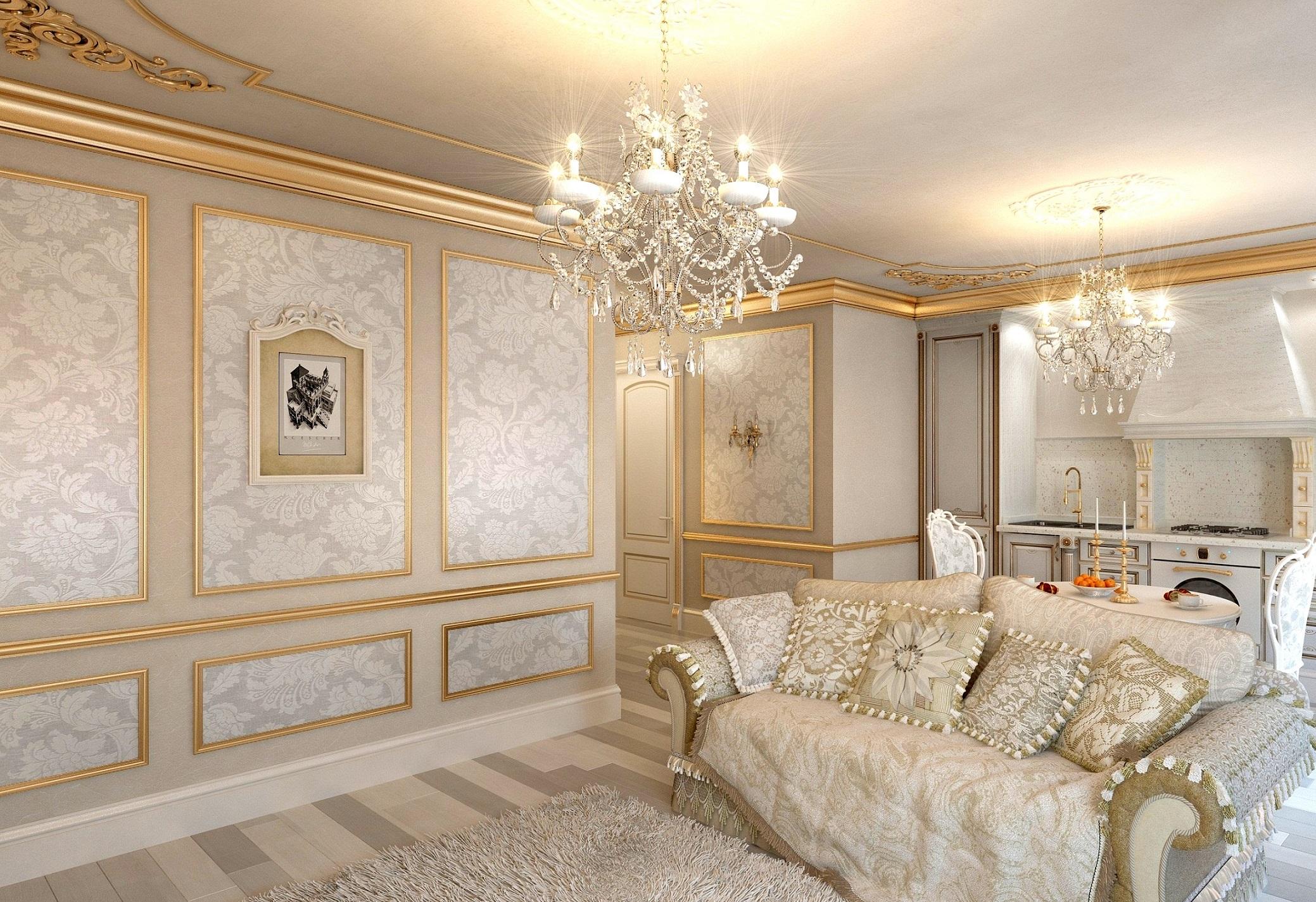 Молдинги как способ декорирования стен