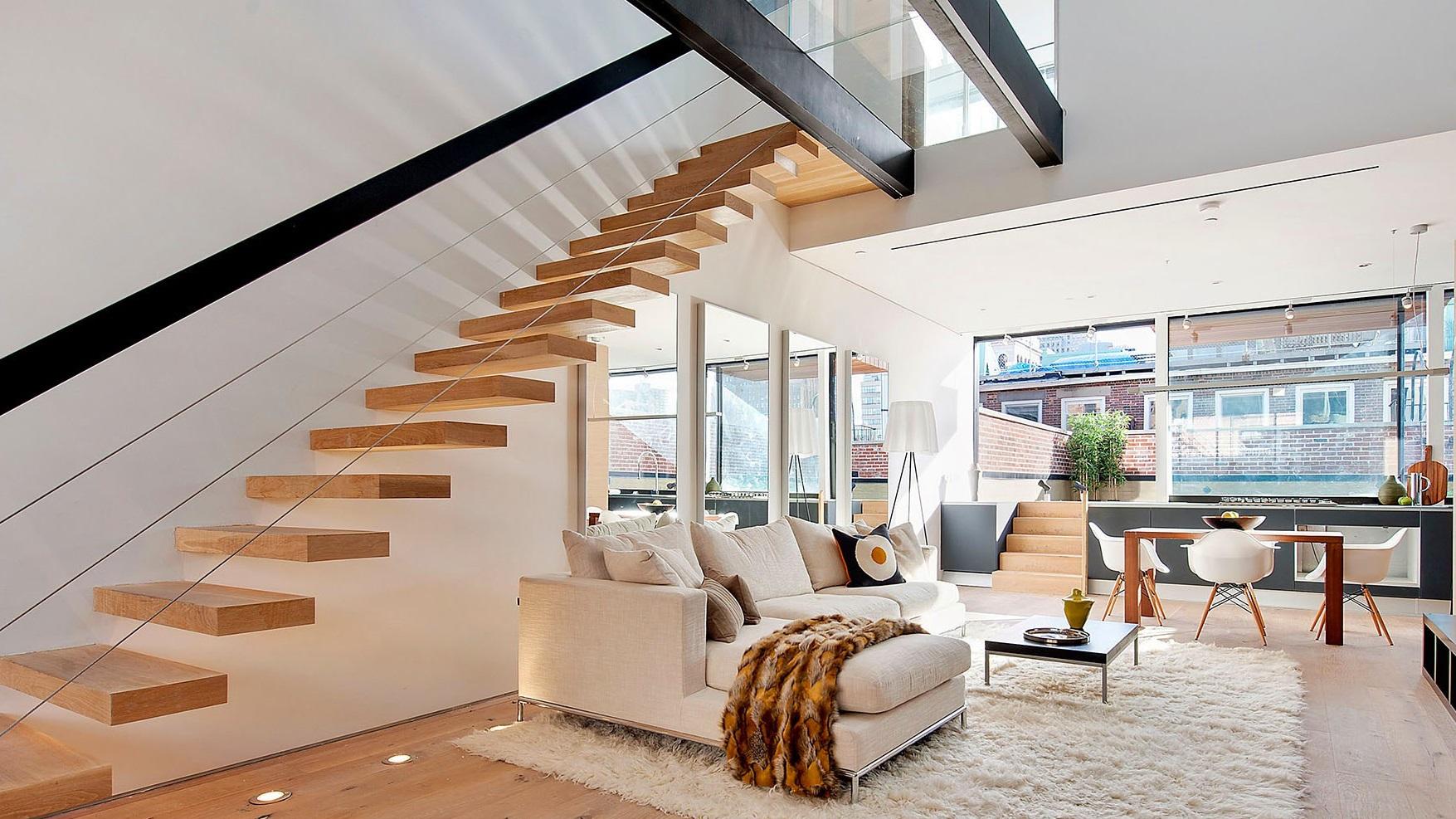 Варианты освещения лестниц