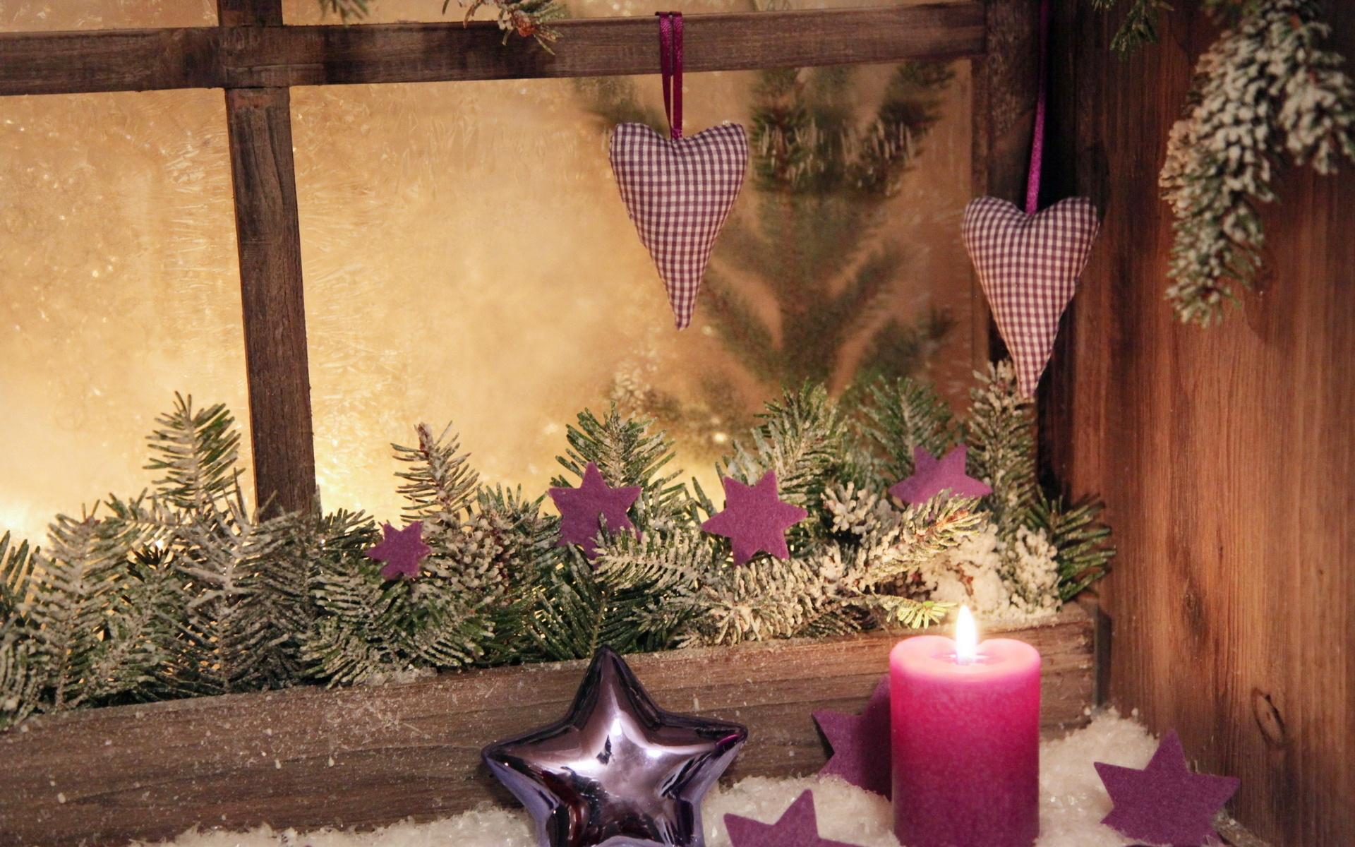 Как украсить окно на Новый год (трафареты)
