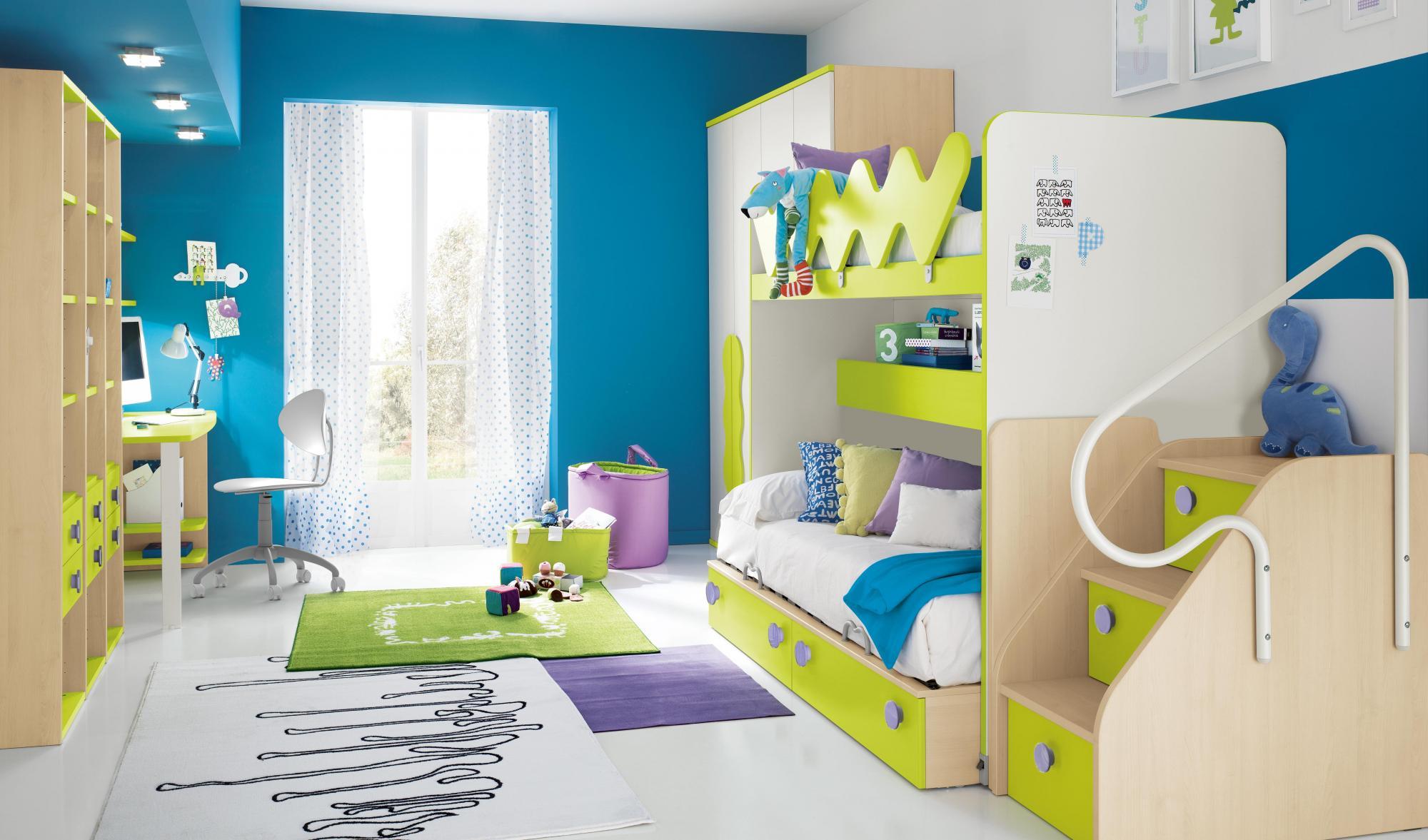 Как расставить мебель в детской для двоих детей