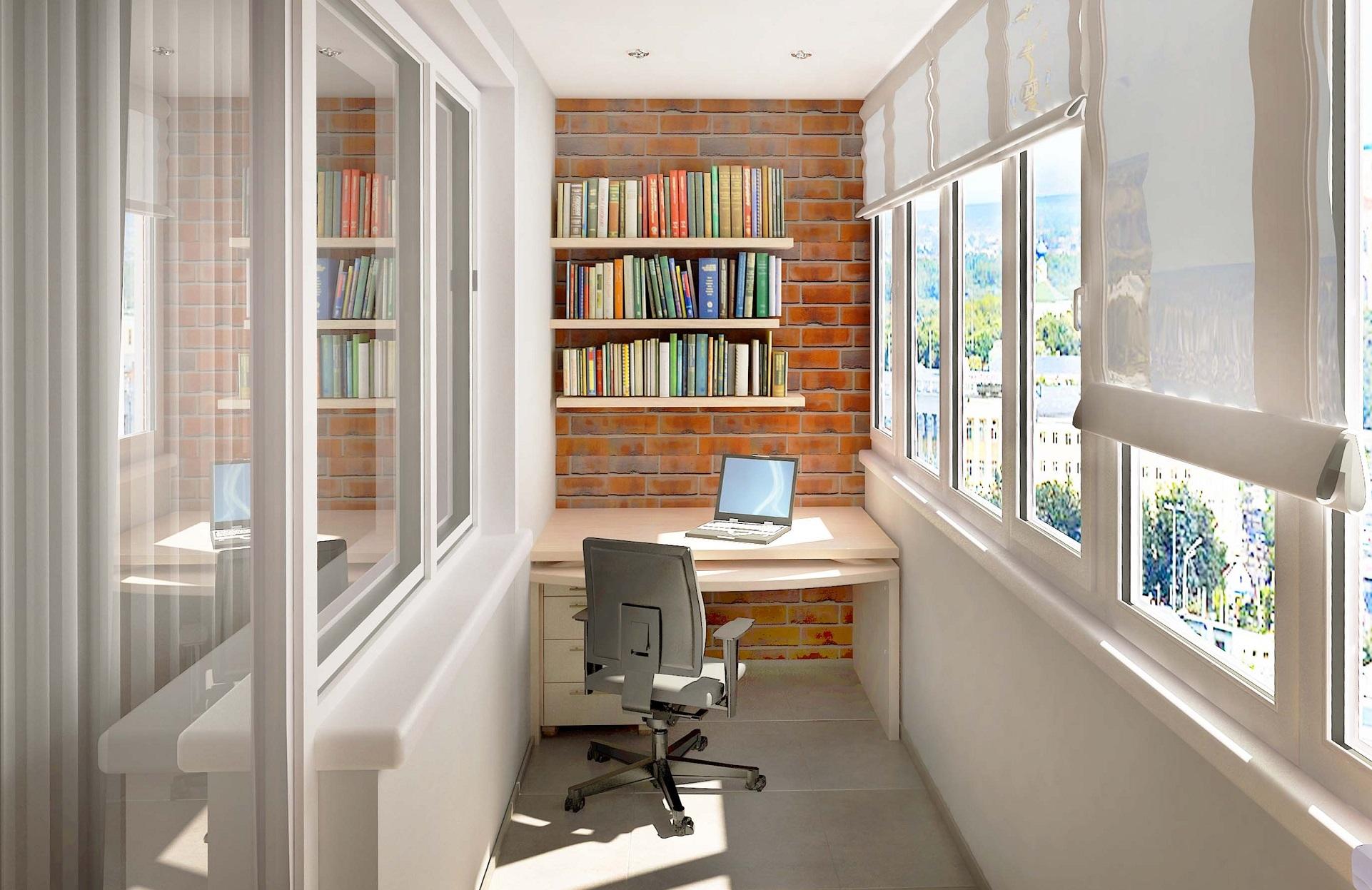 Как сделать кабинет из балкона