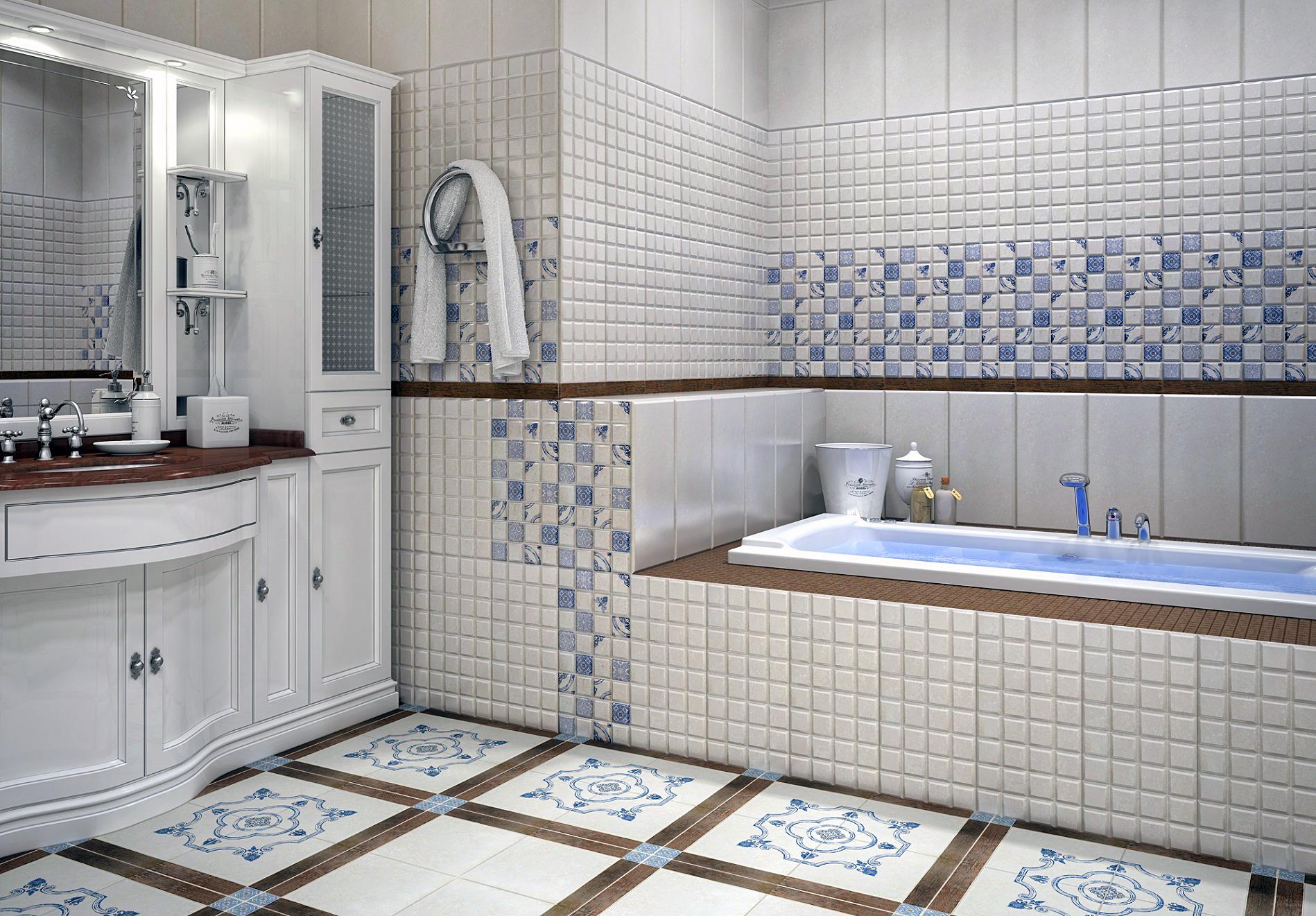 Как выбрать плитку на пол в ванной