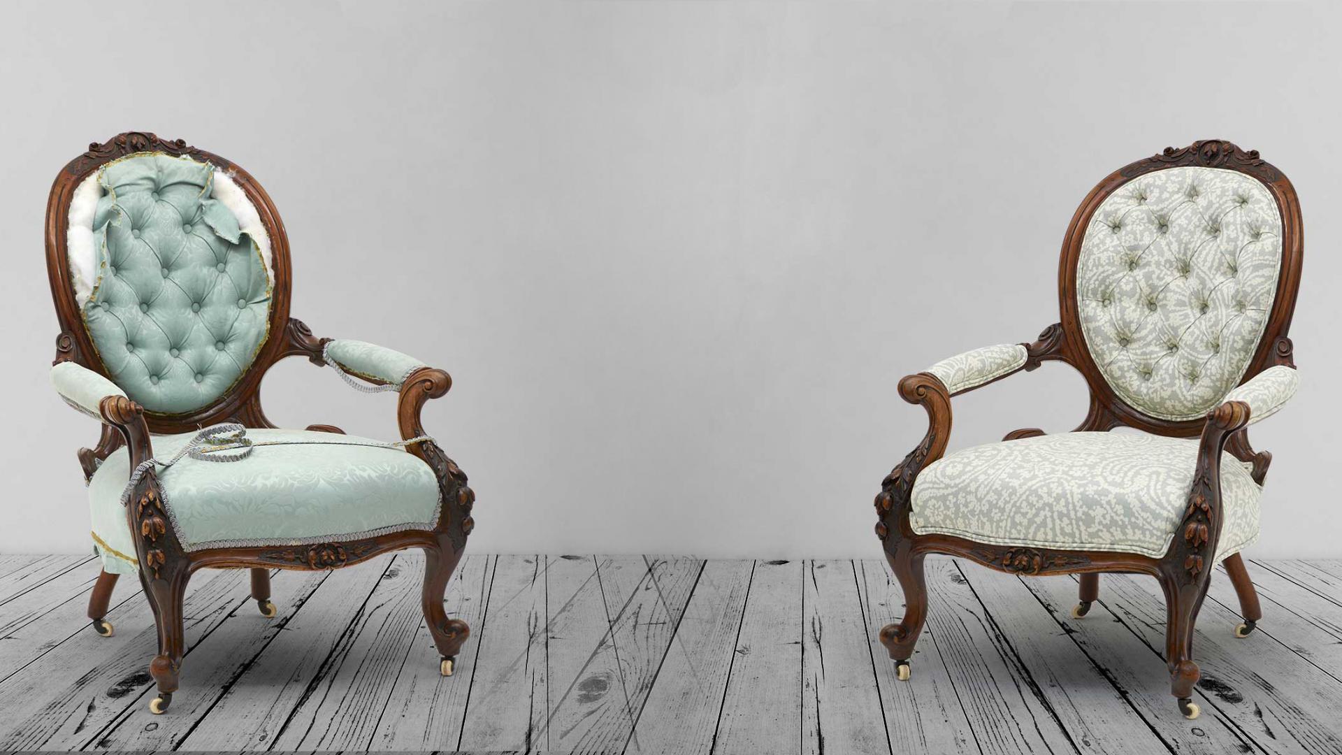 Как отреставрировать мягкий стул